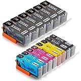 OfficeWorld Sostituzione per Canon PGI-550 CLI-551 Cartucce d'inchiostro PGI-550XL CLI-551XL Alta Capacità Compatibile con Canon Pixma MG5550 iP7250 MX725 iX6850 MG6650 MG5650 MG6450 MX925