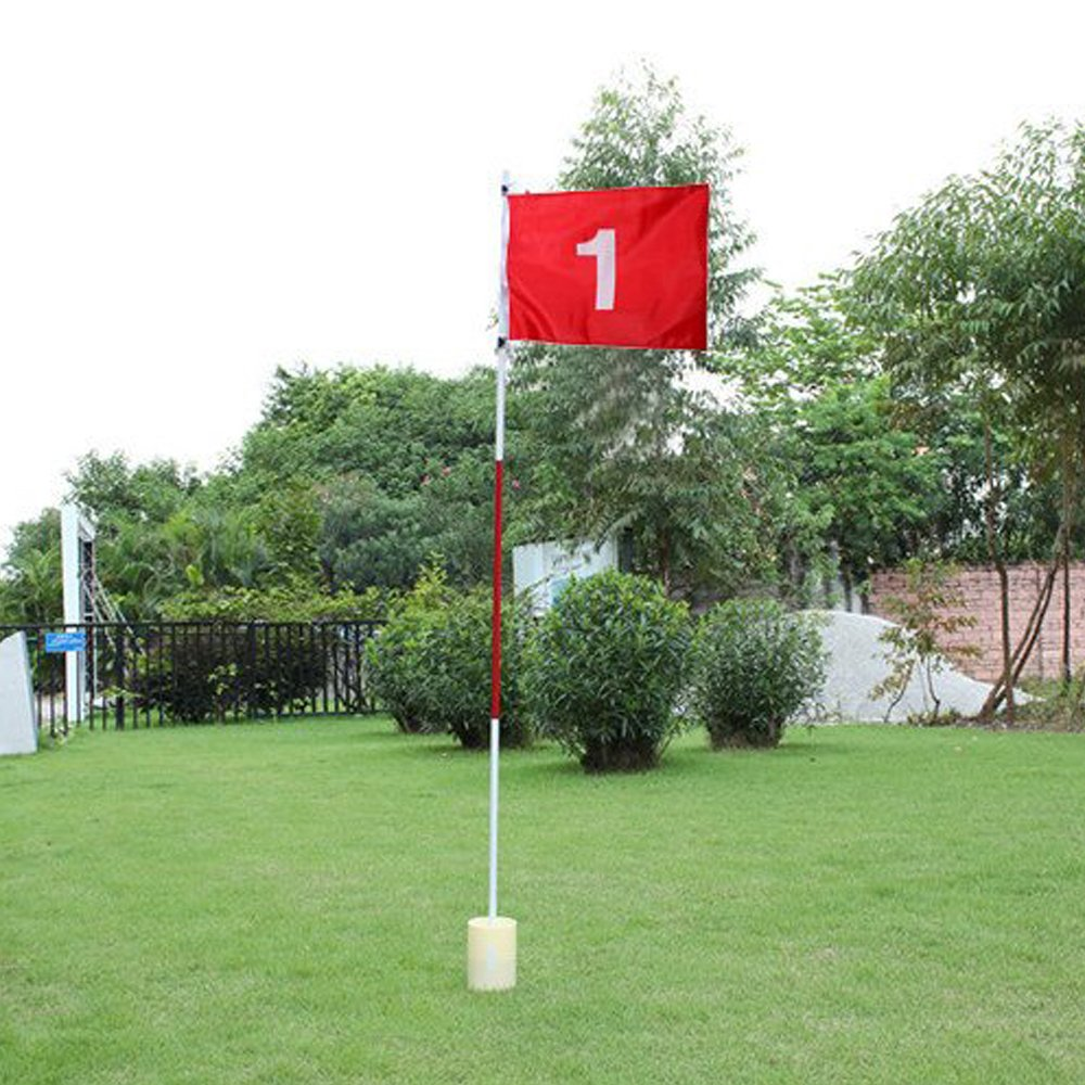 Boshen Practice Golf Putting Green Flags with Cup Backyard Golf Flagstick(Set of 1) by Boshen