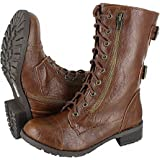 SODA WOMENS DOME COMBAT BOOTS