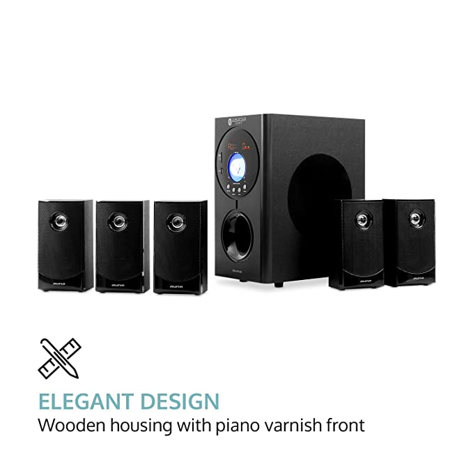 Amazon.com: auna Concept 620 5.1 Channel Home Theater Speaker System ...