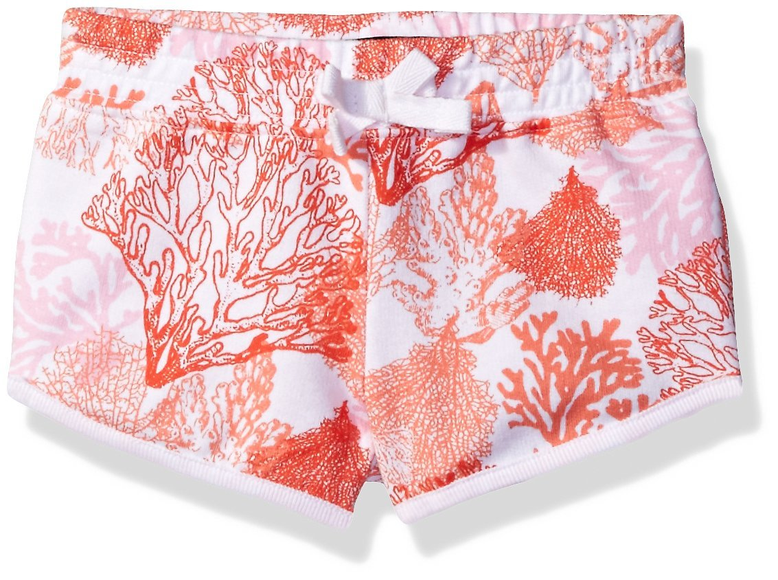 French Toast Big Girls' Printed Dolphin Short, Mandarin Red, X-Large