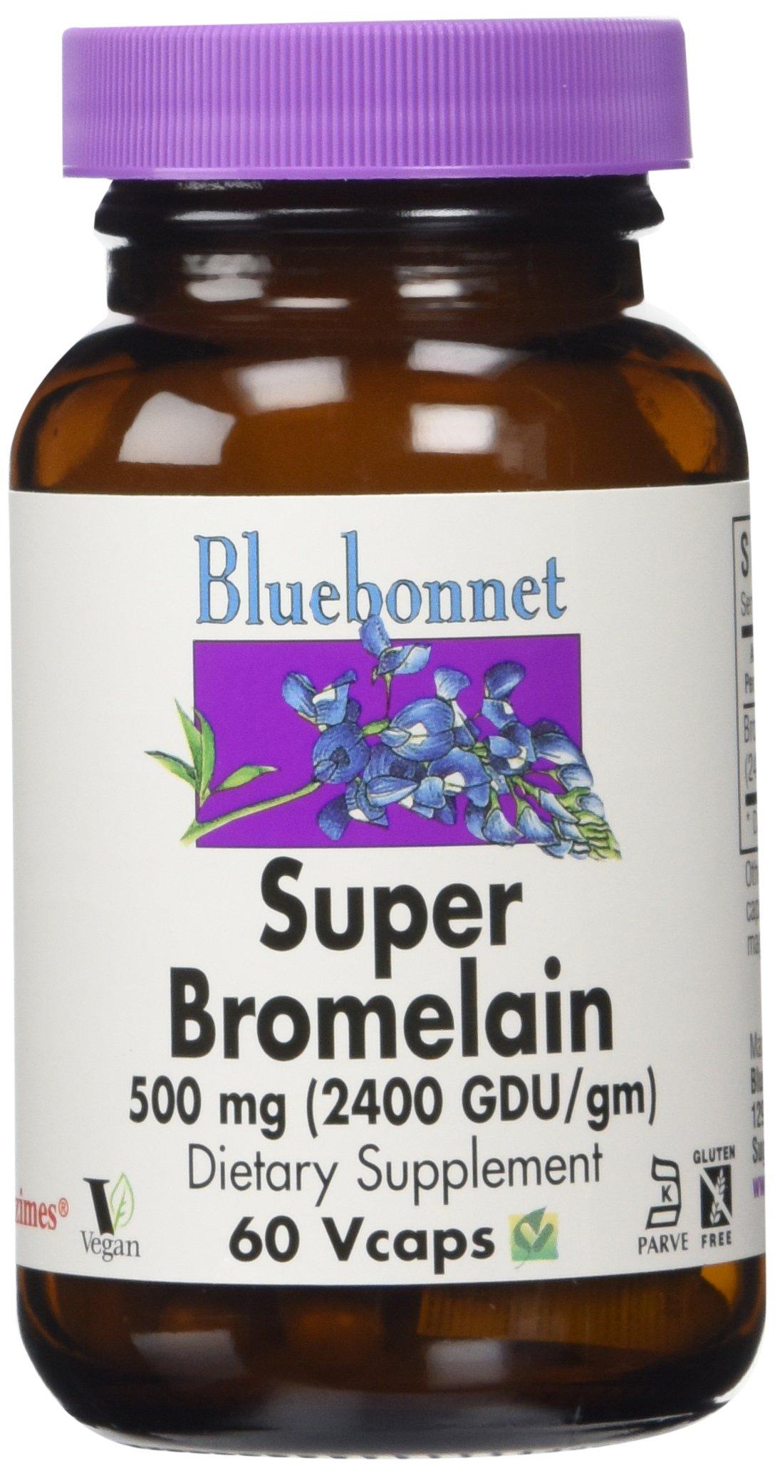 Bluebonnet - Super Bromelain 500 mg - 60 Veg Caps