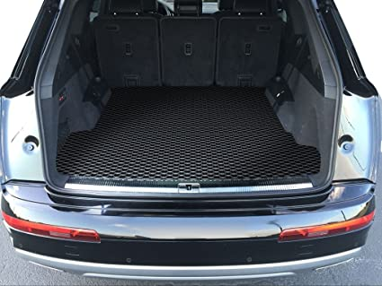 ToughPRO Cargo/Trunk Mat Compatible with Audi Q7 - All Weather - Heavy Duty  - (Made in USA) - Black Rubber - 2017, 2018, 2019