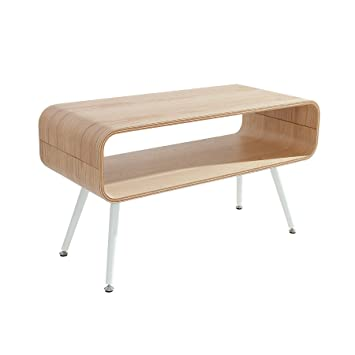 Design Couchtisch APOLLO Eiche weiß TV-Board Retro Tisch ...