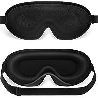 Sleep mask, NEESTARTLY 3D Concave Design, Non pressure, Ultra-soft, Adjustable eye mask for Women Men, Eye Shades for…