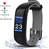 Virtoba Fitness Tracker with Color Touch Screen,The latest Heart Rate Monitor Wristband Sleep Monitor Step Counter,Waterproof for Swimming