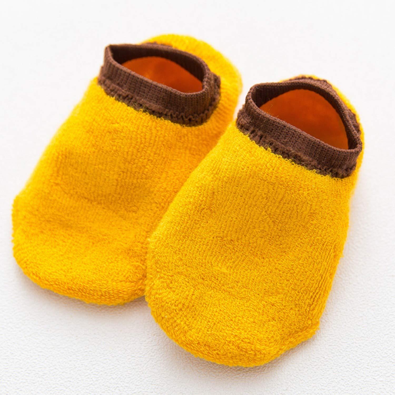 5 Pairs Baby Girls Boys Anti Slip Socks Low Cut Cartoon Animal Cotton Crew Boat Socks