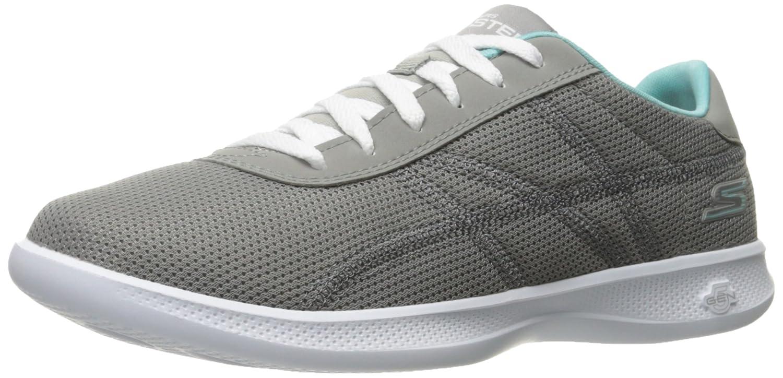 Skechers Performance WomenGo Step Lite-Persistance Walking Shoe Gray/Light Blue
