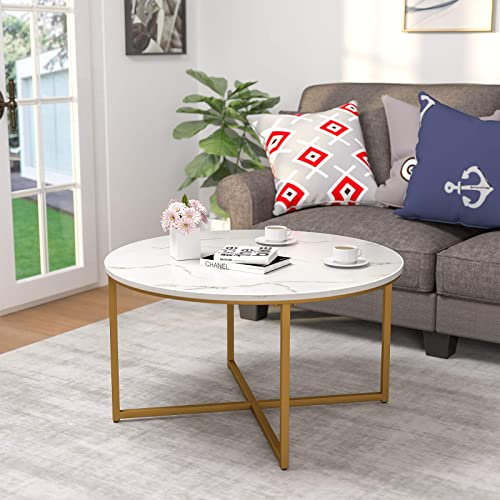 Mecor Modern Round Coffee Table