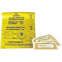 Desechos clínicos bolsa de color amarillo de resistencia