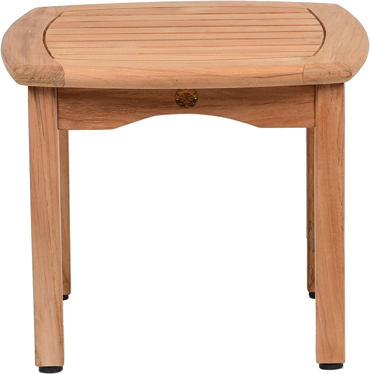 Amazonia Teak Papaya Square Side Table, 19.5 x 19.5