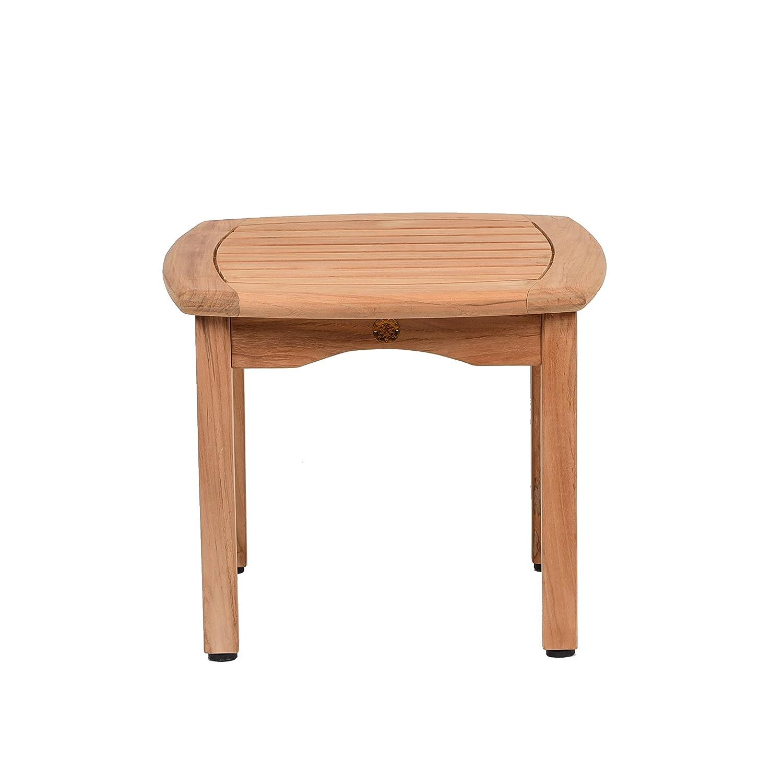 """Amazonia Teak Papaya Square Side Table, 19.5"""" x 19.5"""""""