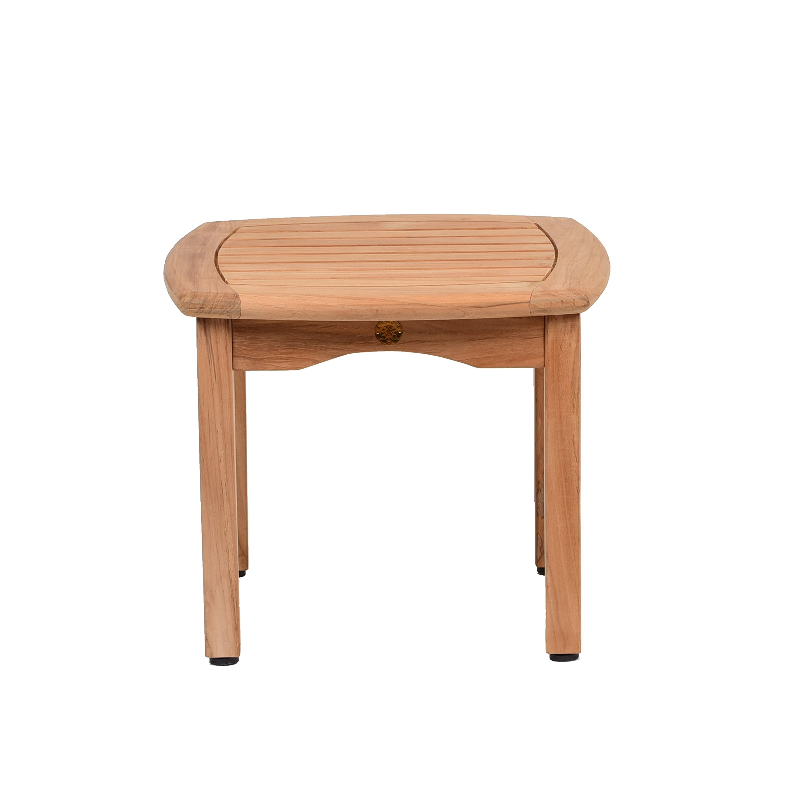 Amazonia Teak Papaya Square Side Table, 19.5'' x 19.5''