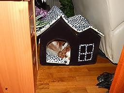 Amazon.com : SKL Luxury High-end Double Pet House/black