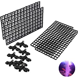 4 Pcs Aquarium Divider Tray Plastic Grid Aquarium Egg Crate Light Diffuser, Fish Tank Divider