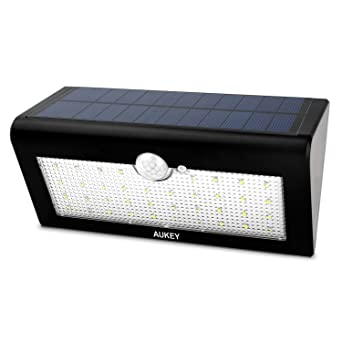 AUKEY Solar Lights, 36 LEDs Outdoor Wall Mounted Security Garden Lights,  Large Solar Panels
