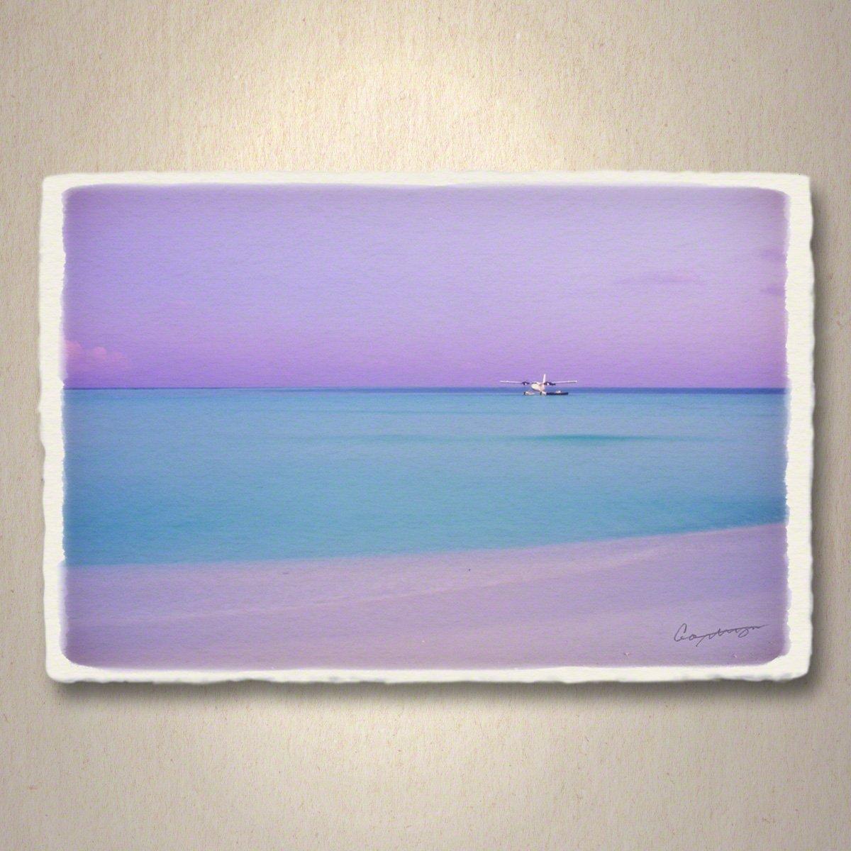 和紙 ポストカード 「珊瑚礁に浮かぶ夕暮れの水上飛行機」 海 絵 絵画 壁掛け 壁飾り インテリア アート B01NBYPEA7 01.ポストカード 300円|珊瑚礁に浮かぶ夕暮れの水上飛行機 珊瑚礁に浮かぶ夕暮れの水上飛行機 01.ポストカード 300円