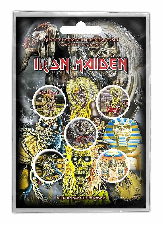 Iron Maiden Early Albums Button Set