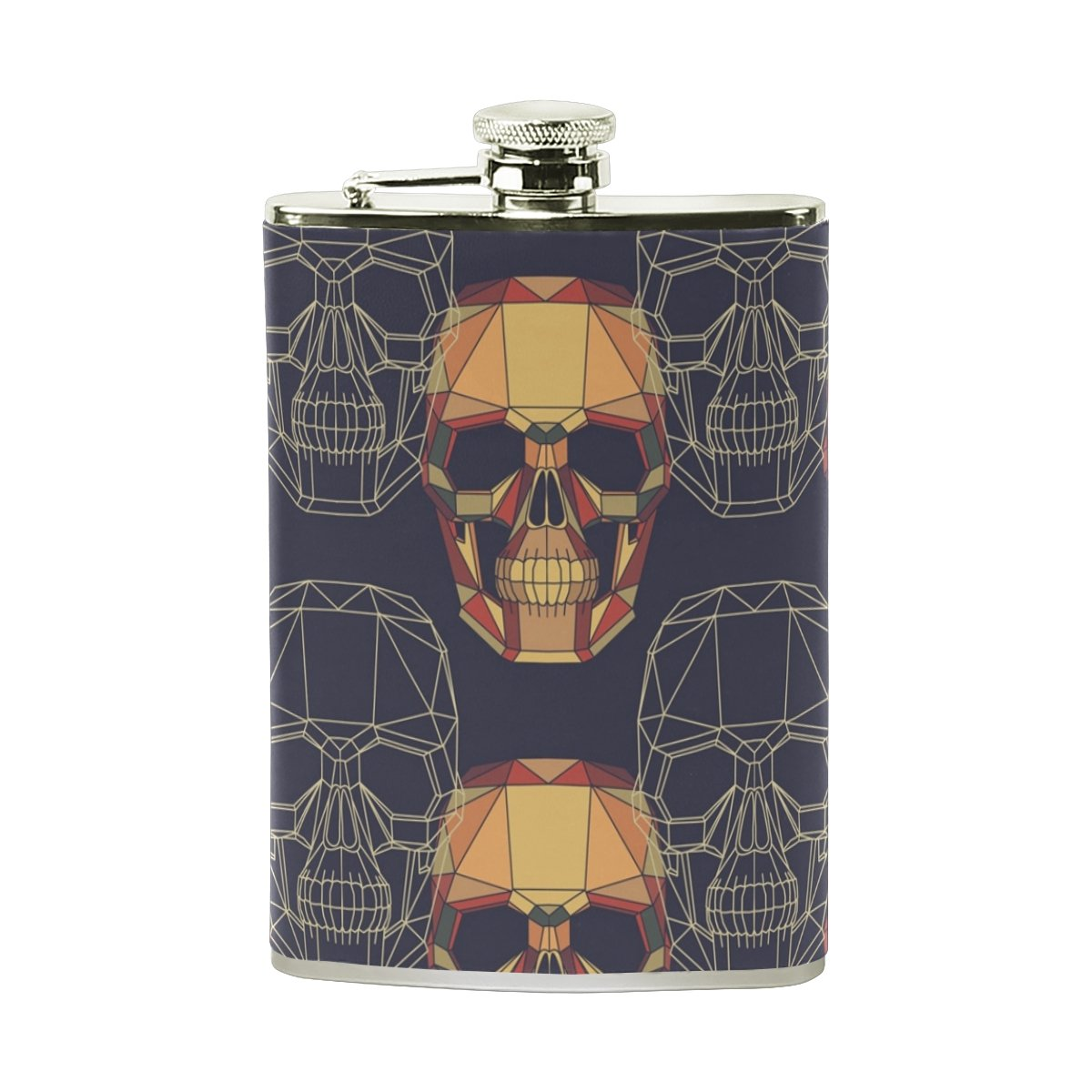 【35%OFF】 Fennenスカルゴースト8オンスステンレス鋼ポケットヒップフラスコボトルセットレザーWrappedと100 % Drinking Leak Proof ForメンズレディースLiquor Shot Drinking % Pattern Skulls Proof B078VRBM62, ケイホクチョウ:f26abc09 --- a0267596.xsph.ru