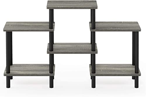 Furinno Turn-N-Tube DIY Multipurpose Combination Rack, French Oak Grey Black