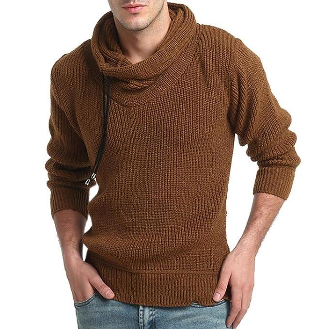 1a7443172df17 Logobeing Suéter Hombre Cuello Alto Primavera Sudaderas de Hombre Sin  Capucha Deportivas  Amazon.es  Ropa y accesorios