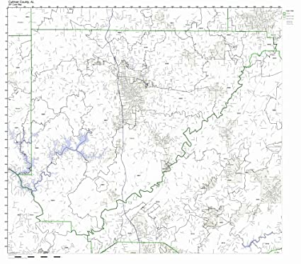 Amazon Com Cullman County Alabama Al Zip Code Map Not Laminated