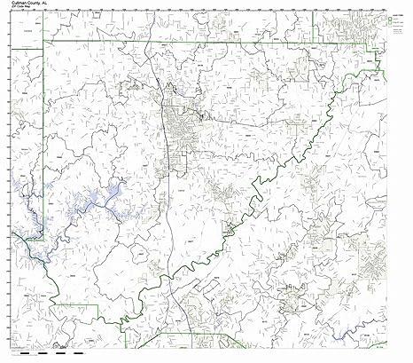 Amazon.com: Cullman County, Alabama AL ZIP Code Map Not ...