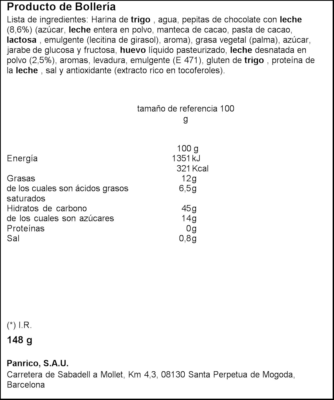 Horno De Oro - Bollo Con Pepitas Panrico 4 148 g: Amazon.es ...