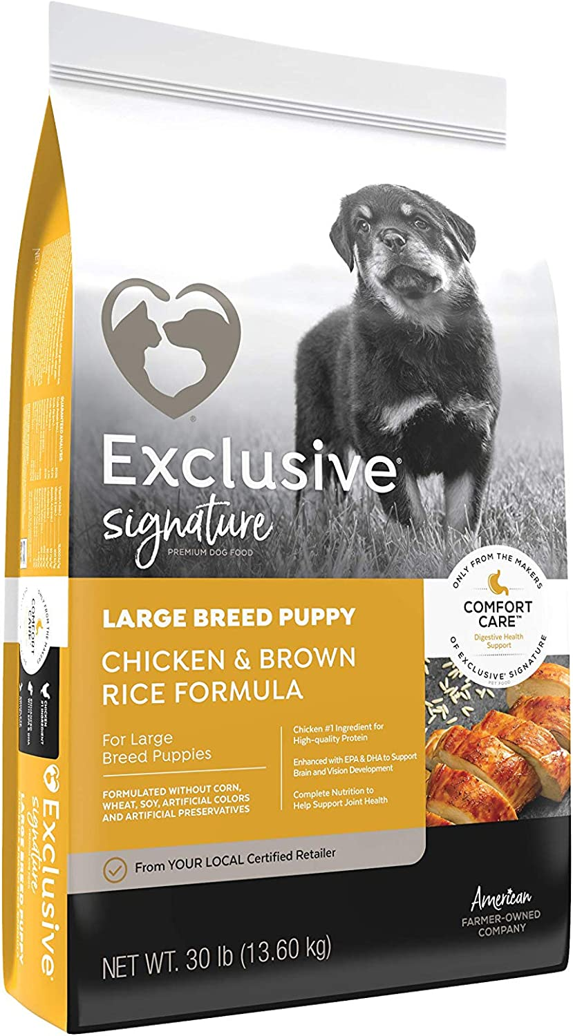 Exclusive | Signature Large Breed Puppy Chicken & Brown Rice Comfort Care | Dog (Puppy) Food | (30 Pound (30 lb.) Pound)