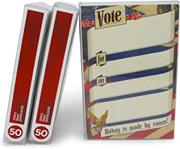 50 perfect for writing to your reps or get out the vote History is made by voters Fill-in Vote Postcards: Set of political postcards