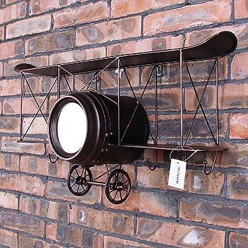 Etagere De Decoration Murale Loft Loft Industriel Style Horloge