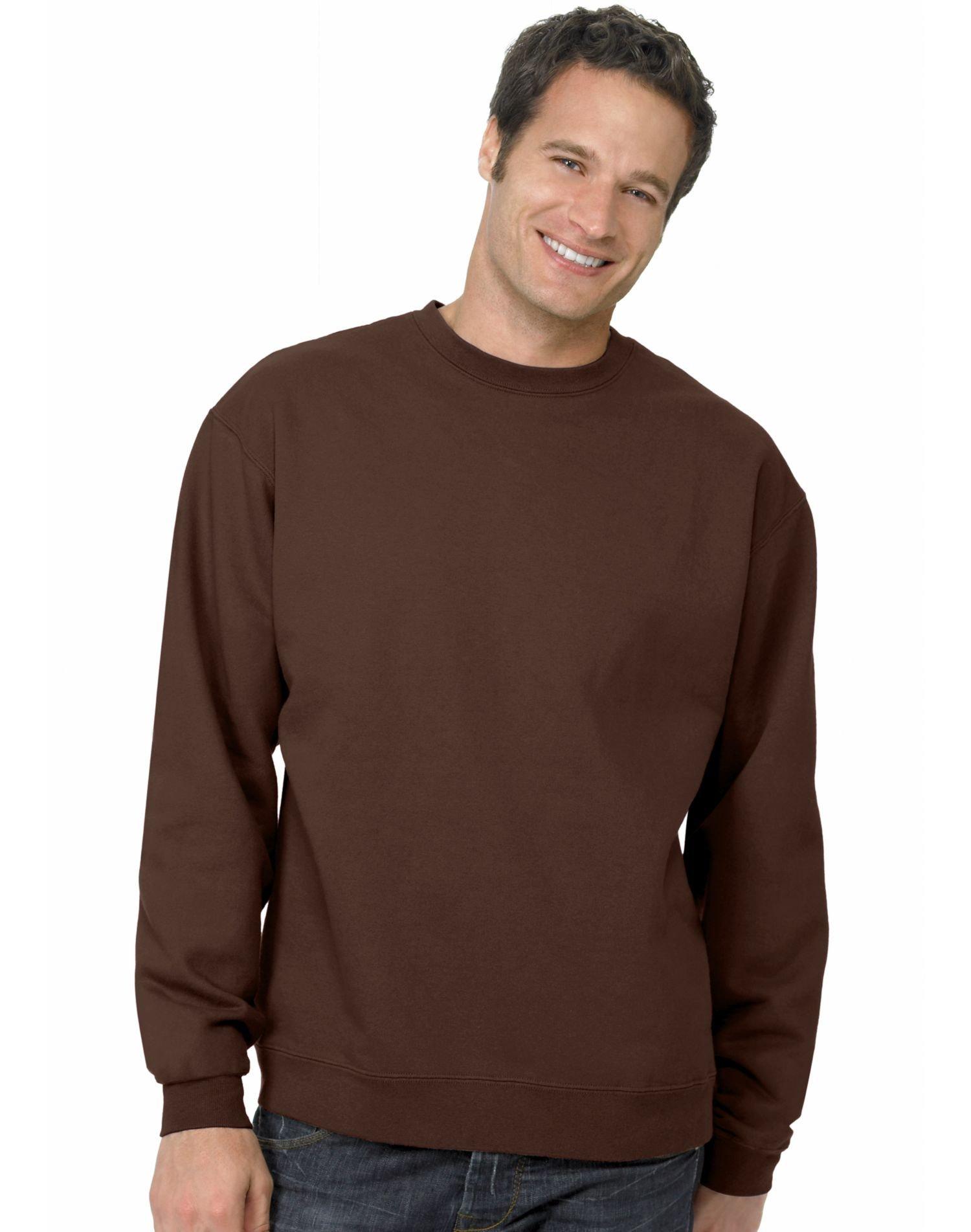 Adult Hanes 7.8-oz ComfortBlend EcoSmart Crew Sweatshirt - P160 Brown 3X-Large