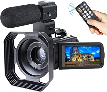 Ansteker Full HD 1080P WiFi Video Camcorder with Mic