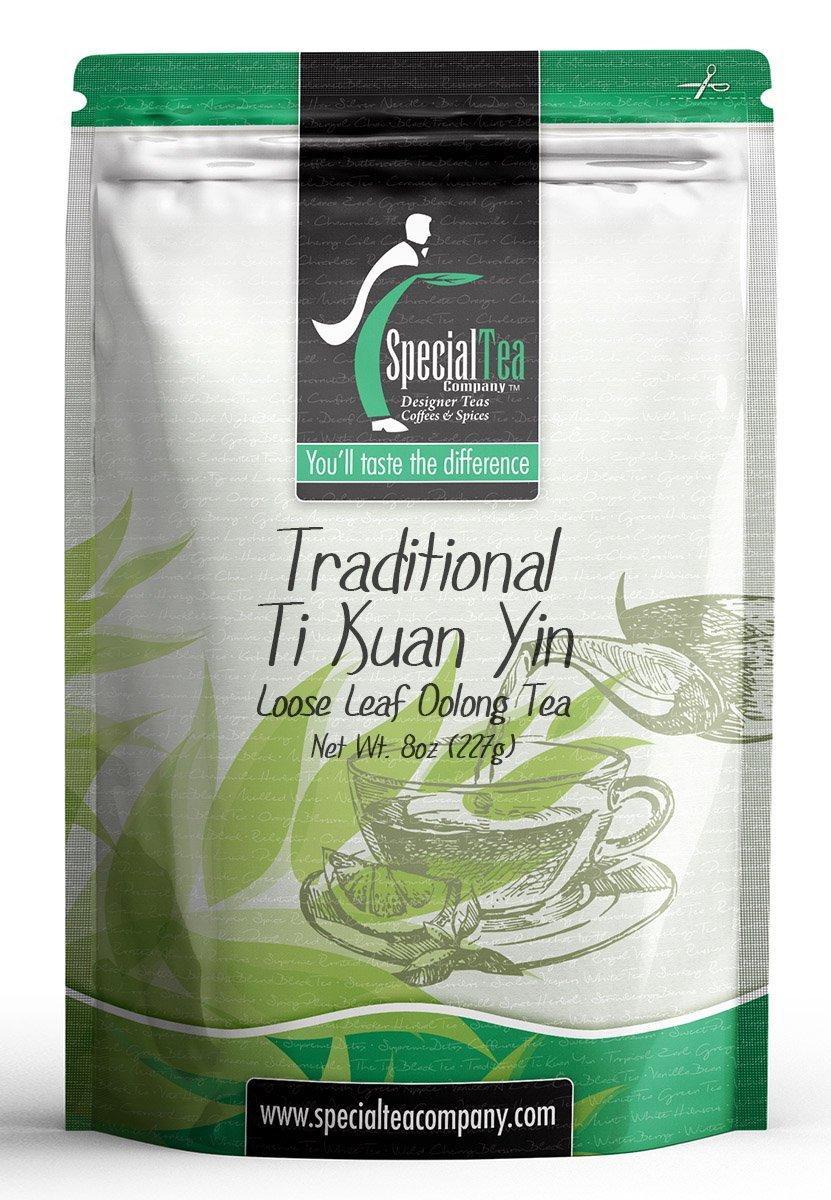Special Tea Loose Oolong Tea, Traditional Ti Kuan Yin,8 Ounce