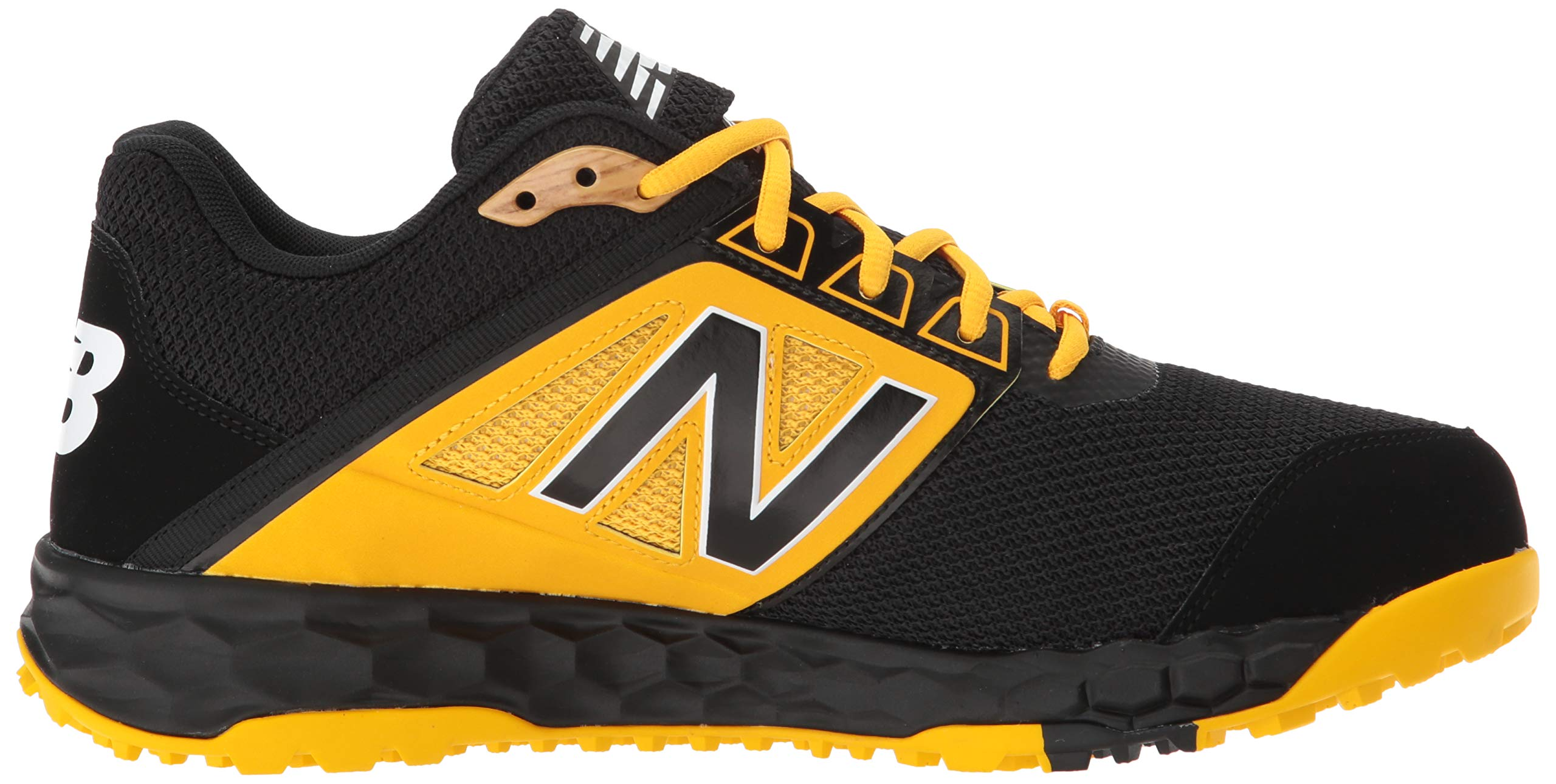 New Balance Men's 3000v4 Turf Baseball Shoe, Black/Yellow, 5 D US by New Balance (Image #7)
