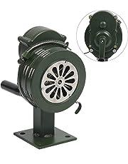 YaeMarine 110±2dB Base/Table Mount Hand Crank Manual Operated Metal Alarm/Siren (Air Raid)