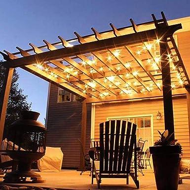 Cadena de Bombillas Solar,SUAVER 25ft Solar Cadena de Luz ...