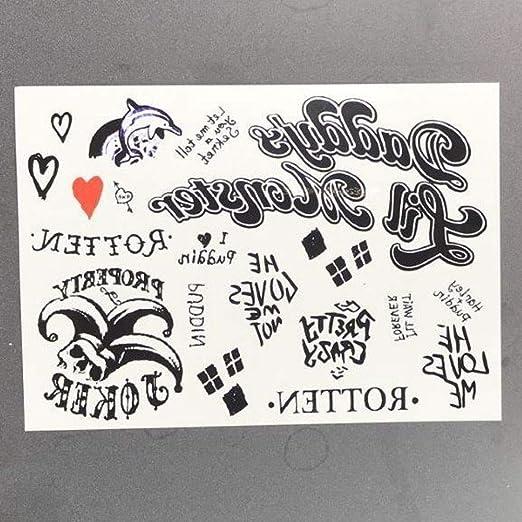 ljmljm 5pcs Impermeable Etiqueta engomada del Tatuaje Fuego Llama ...