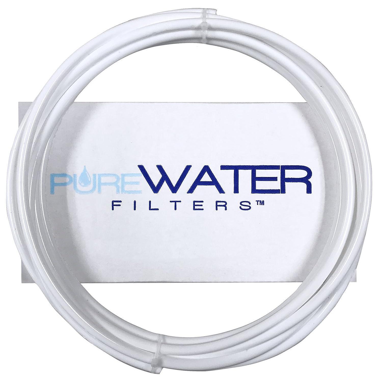"1/4"" Water Line Tubing - 5' Feet Long, use for Keurig Hookup - White"