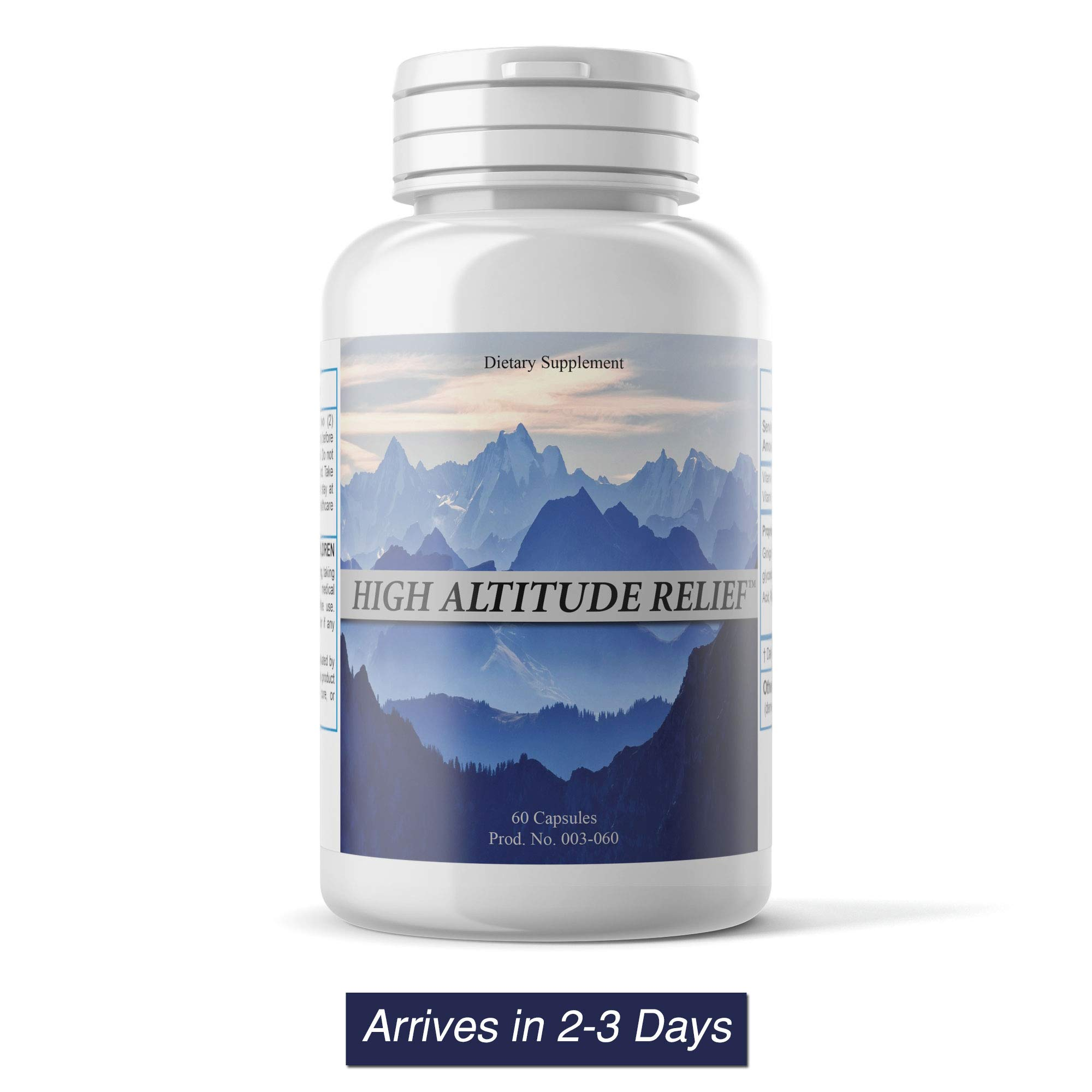 High Altitude Relief (60 Vegi Capsules) - Colorado's #1 Product for Altitude Sickness by Parker Pharmaceutical