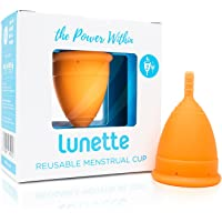 Lunette Menstrual Cup (Model 2(for normal to heavy flow), Orange)