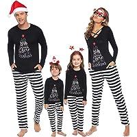 iClosam Pijamas De Navidad Familia Conjunto Pantalon y Top Mujer Hombre Niños Niña Camisetas De Manga Larga Sudadera Chándal Suéter