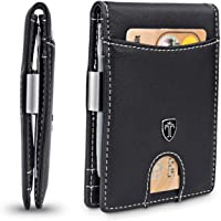 """TRAVANDO ® Slim Wallet with Money Clip""""Seattle"""" - 9 Card Slots - RFID Blocking - Perfect Gift for Men - with Gift Box - Designed in Germany"""