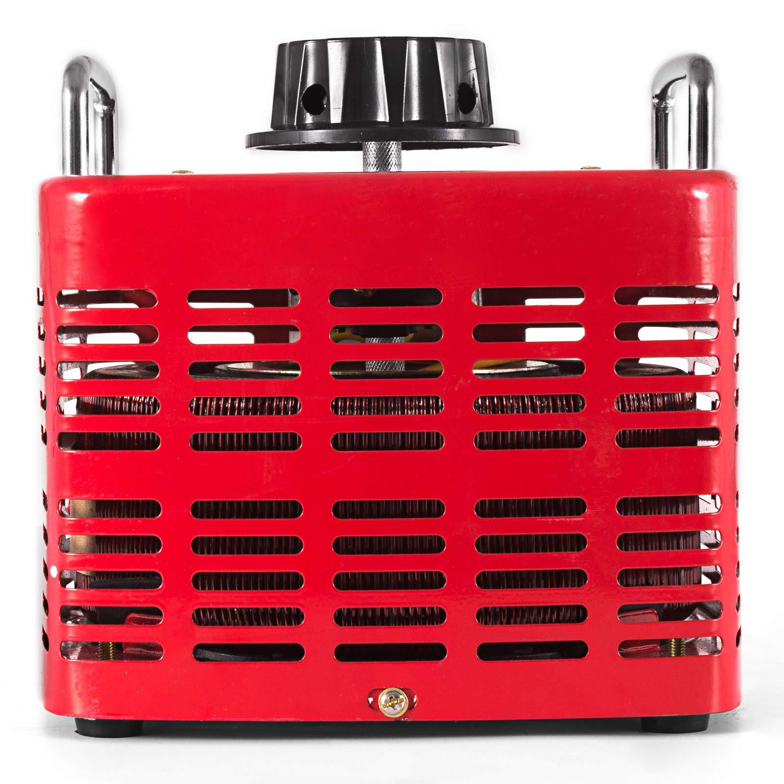 VEVOR 3KVA Transformer Max 30 Amp Variable Transformer 0~130 Volt Output Variable AC Voltage Regulator for Industries Equipment Appliances by VEVOR (Image #5)