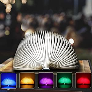 Catwalk Wooden Book Light,Novelty Folding Book Lamp, Folding Night Light, USB Rechargeable Wooden Table Lamp - Creative Gift for Home & Office Décor