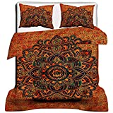 Janki Creation Exclusive Tye & Dye Flower ombre Duvet Doona Quilt Cover Comforter Indian Ombre Mandala Hippie Bohemian Queen Set With Pillow Covers