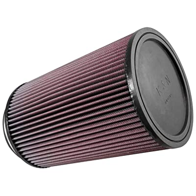 K&N Universal Clamp-On Air Filter: High Performance, Premium, Washable, Replacement Engine Filter: Flange Diameter: 5 In, Filter Height: 10 In, Flange Length: 1 In, Shape: Round, RU-3220: Automotive