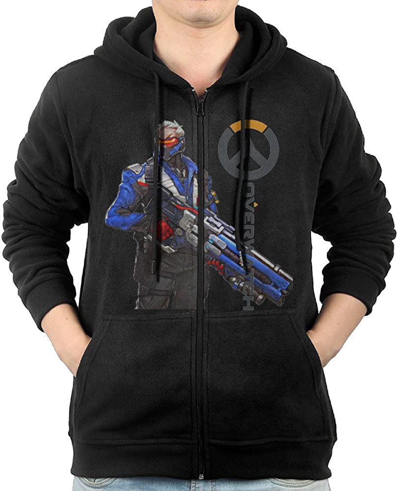 KIHOYG Mens Kiss Band Logo Hooded Zip Front Sweatshirt