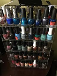 Amazon.com: Nail Polish Rack Display Rotating Fits up to ...