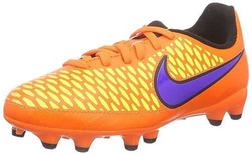 Hypervenom Phelon II FG - Zapatillas de Fútbol Niños, Gris (Gris/Azul), EU 37.5 (US 5Y) Nike